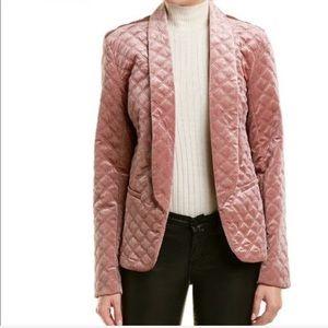 Willow & Clay quilted blush blazer jacket medium